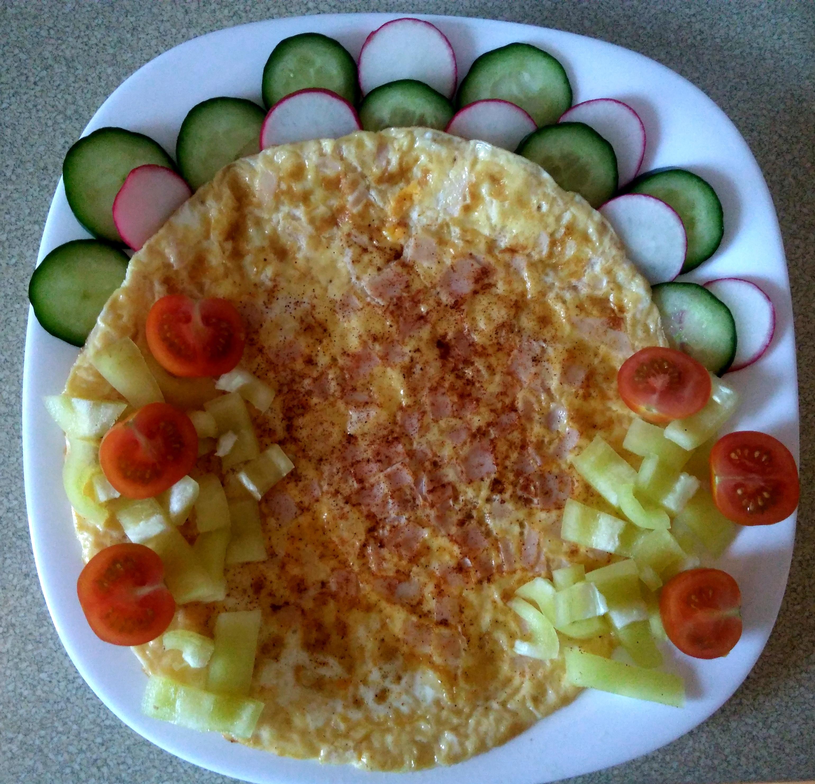 Zdravá raňajková zeleninová omeleta